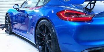 Porsche Cayman GT4 car detailing