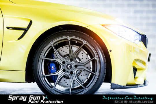 BMW wheel detailing