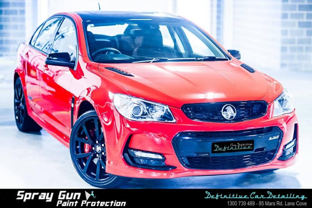 Holden SSV car detailing