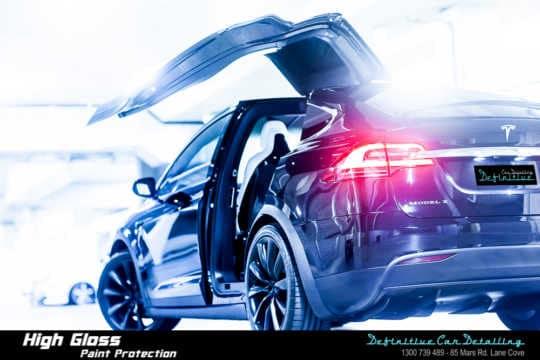 Tesla car detailing
