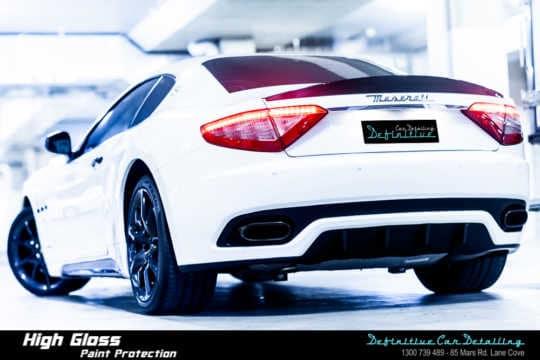 Maserati GranTurismo MC Sport Bianco Best Car Detailing